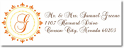 Name Doodles - Rectangle Address Labels/Stickers (Woodbury Orange)